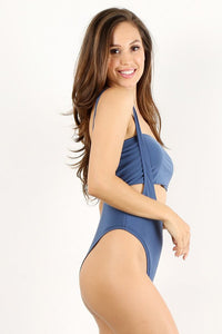 Deep Blue 2pc Overall Swimsuit