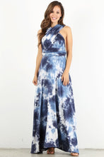 Load image into Gallery viewer, Blue Dye Infinity Maxi Dress