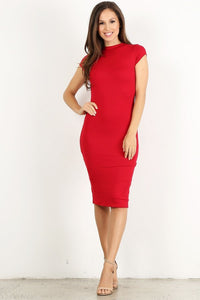 Red Bodycon Thick Dress