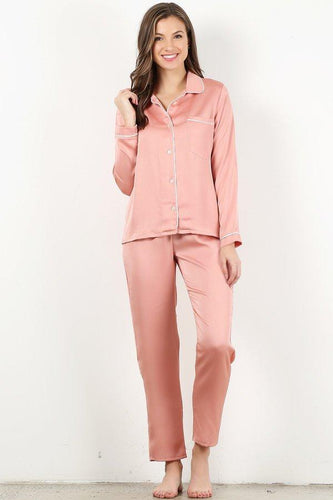 Dusty Pink 4pc Style#Pajama (6Sets)