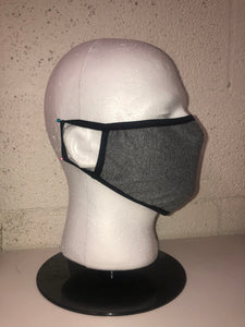 Heather Grey Chambray Face Mask