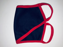 Load image into Gallery viewer, Navy Nylon Red Edge Face Mask(Bulk)
