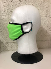 Load image into Gallery viewer, Neon Green Cotton Face Mask