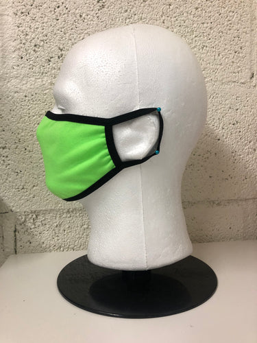 Neon Green Cotton Face Mask