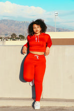 Load image into Gallery viewer, Red Sweat Suit Set