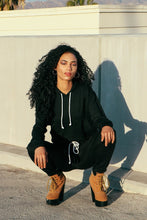Load image into Gallery viewer, Black Sweat Suit Set