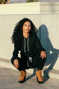 Black Sweat Suit Set