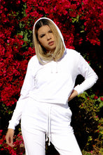 Load image into Gallery viewer, White Sweat Suit Set
