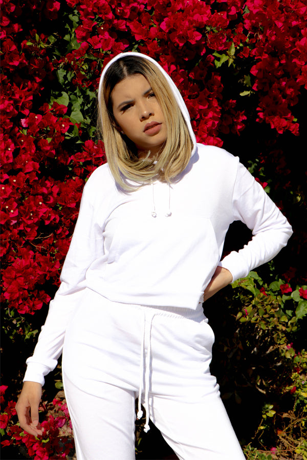 White Sweat Suit Set