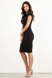 Black Bodycon Thick Dress