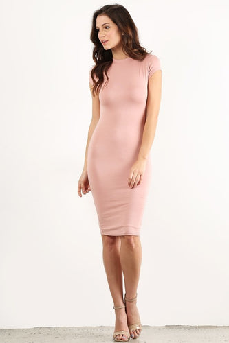 Blush Bodycon Thick Dress