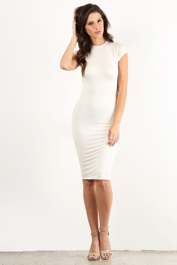Ivory Bodycon Thick Dress
