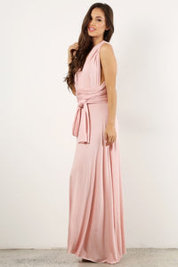 Light Pink Infinity Maxi Dress