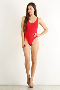 Red RacerbackThong Bodysuit