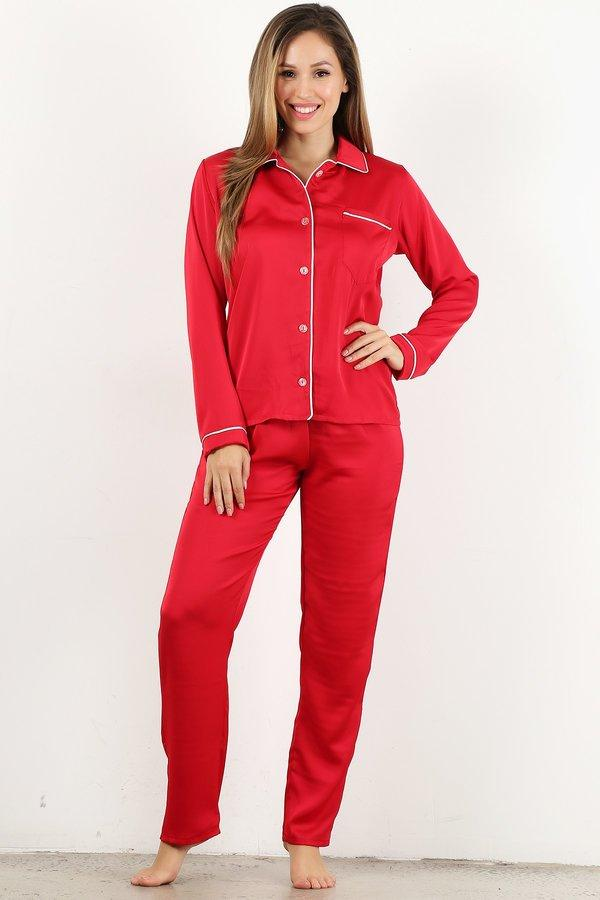 Red 4pc Style#Pajama (6Sets)