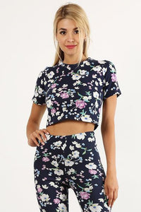 Floral Cropped Tee