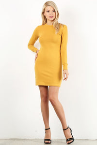 Mustard Cotton Dress