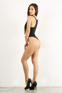 Green Racerback Thong Bodysuit