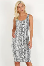 Load image into Gallery viewer, Snake Print Bodycon Tank Dress