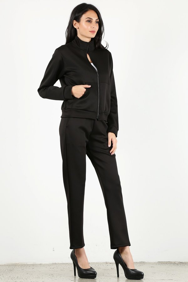 Black Tracksuit Set