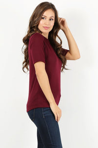 Burgundy Knit T-shirt