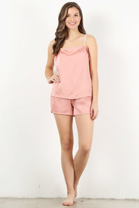 Dusty Pink 4pc Pajama Set