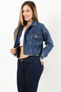 Indigo Cropped Denim Jacket