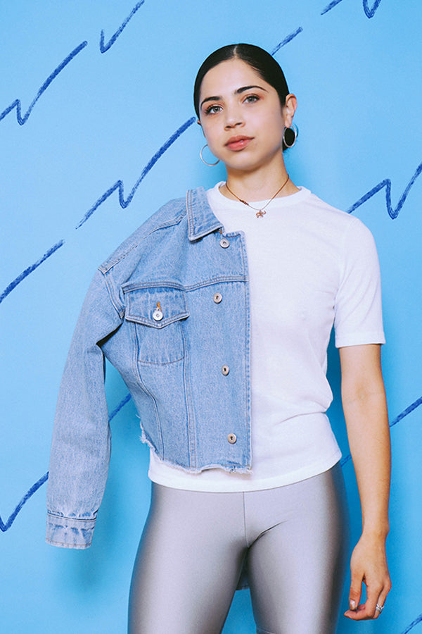 Light Cropped Denim Jacket