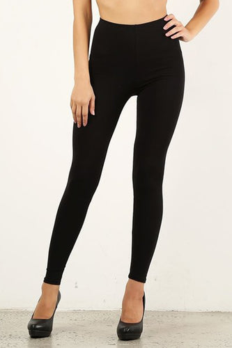 Black Cotton Leggings (BULK)