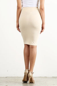 Natural Tone Pencil Skirt