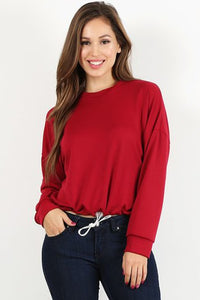 Deep Red Sweatshirt