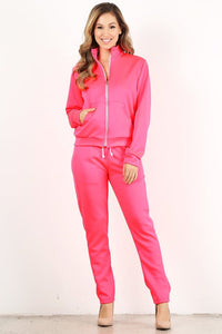 Neon Pink Tracksuit Style# 2038 (6pcs)
