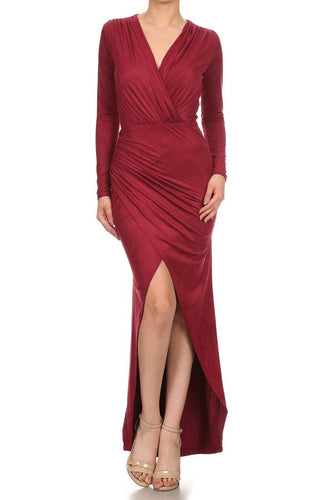 Red Maxi Slit Dress