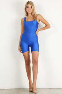 Royal Blue Shiny Short Unitard