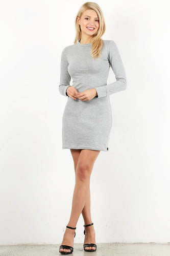Heather Grey Cotton Dress