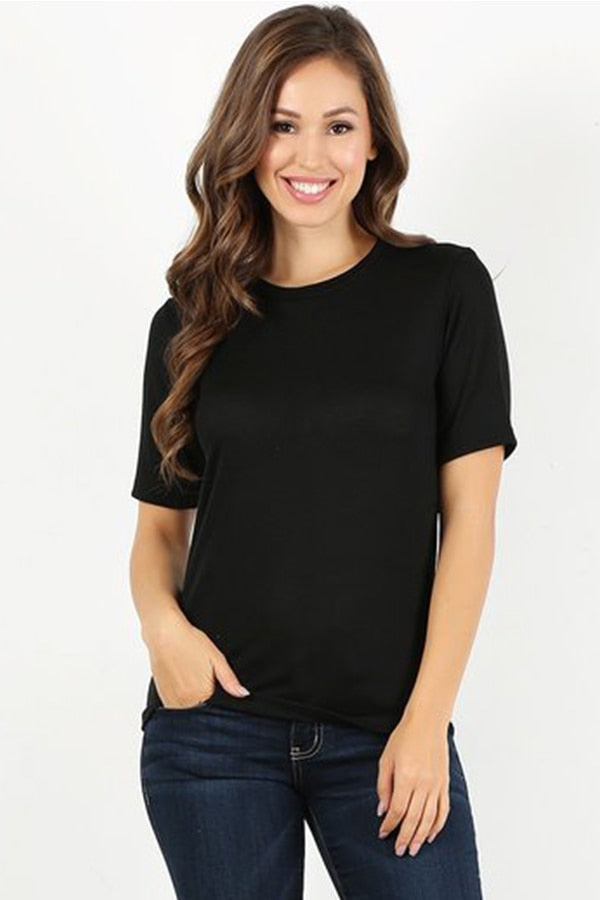 Black Knit T-shirt
