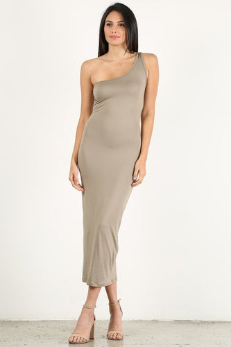 Sage One Shoulder Dress