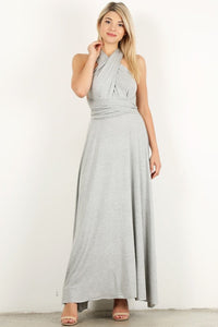 Heather Gray Infinity Maxi Dress