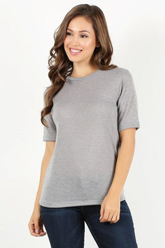 Heather Grey Knit T-shirt