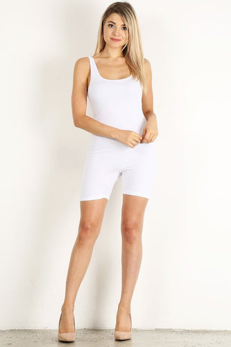 White Short Unitard