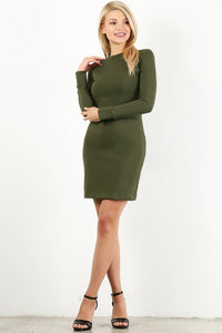 Olive Cotton Dress