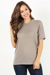 Taupe Knit T-shirt