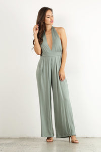 Greenish Halter Jumpsuit