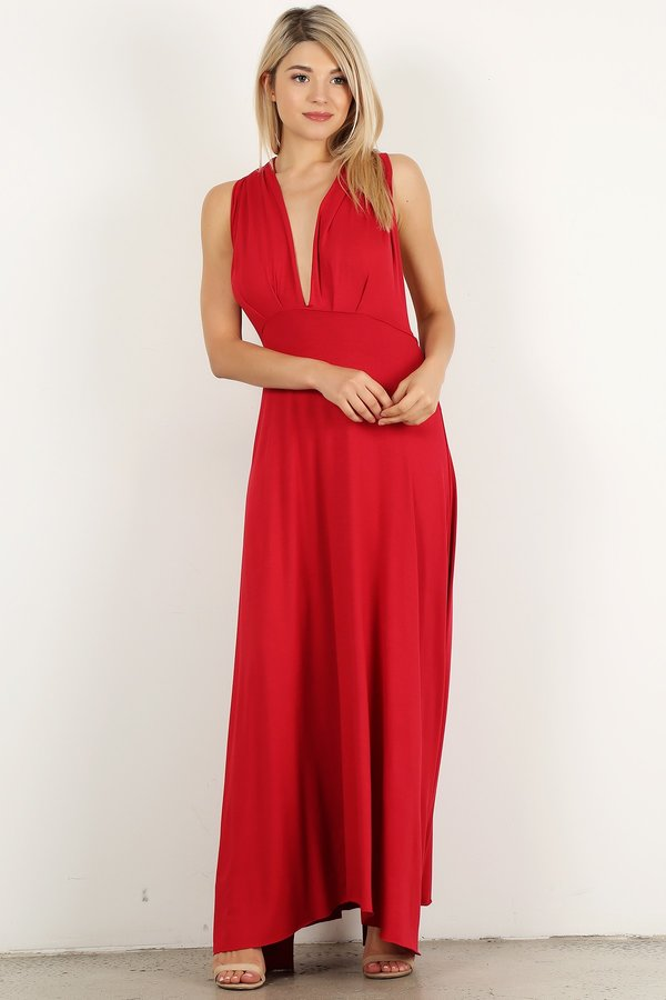Red Infinity Maxi Dress