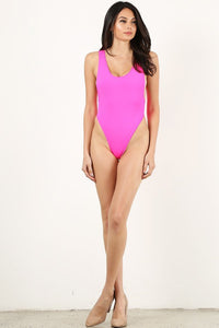 Neon Pink One Piece Bathing suit