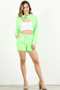 Neon Green Style #1357-2 Jogger Shorts (6pc)