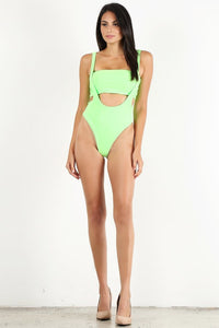 Neon Green 2pc Overall Swimsuit