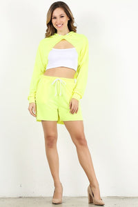 Neon Yellow Style #1357-2 Jogger Shorts (6pc)