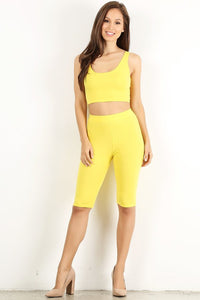 Yellow Crop Tank