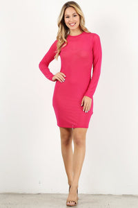Hot Pink Mesh Mini Dress